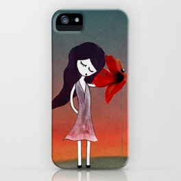 La fleur sans voix iPhone Case
