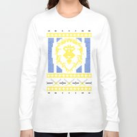 warcraft Long Sleeve T-shirts featuring Ugly Sweater 1 by SlothgirlArt