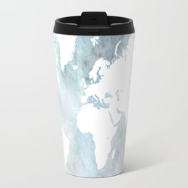 Design 68 light blue world map Travel Mug