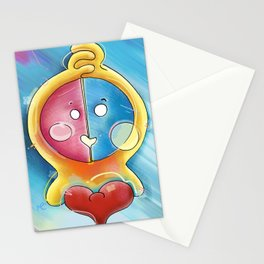 2  Hearts  Stationery Cards