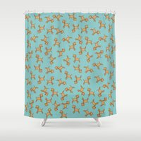giraffes Shower Curtains featuring Giraffes! by Kashidoodles Creations
