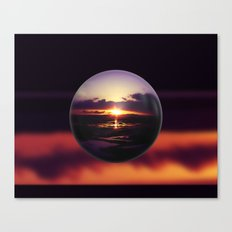 Float on the clouds like a drop of dew and bask in the light of a sunrise view Canvas Print