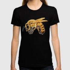 Honey Bee Black Womens Fitted Tee MEDIUM