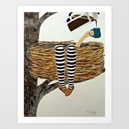 Nest Service - Awaiting her Coffee Art Print