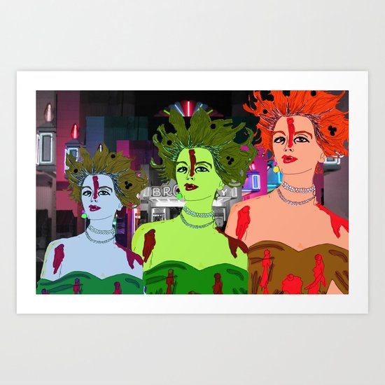 Drop Dead Diva Art Print