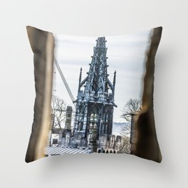 View from a Keep Cardiff Castle Wales Throw Pillow