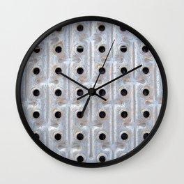 Background. Metallic grid. Urban and grunge. Wall Clock