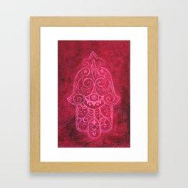 Hamsa in Magenta Framed Art Print