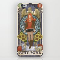 amy pond iPhone & iPod Skins featuring Amy Pond by hairwire