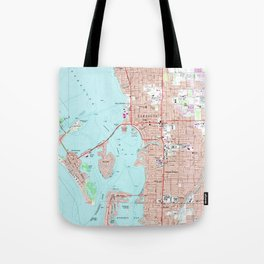 Vintage Map of Sarasota Florida (1973) Tote Bag