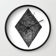 Graphite Diamond Wall Clock