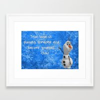 olaf Framed Art Prints featuring Olaf by Maggie Jane Photography