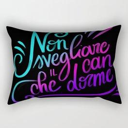Non svegliare il can che dorme Rectangular Pillow