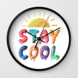 Stay Cool Wall Clock