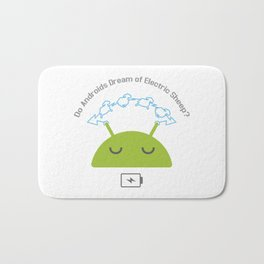Androids and sheep Bath Mat