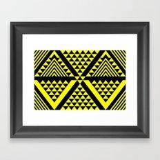 Black & Yellow Framed Art Print