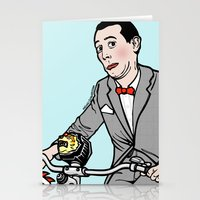 pee wee Stationery Cards featuring Pee Wee Herman by Michael Scarano