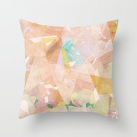 diamonds Throw Pillows featuring Diamonds by Zeke Tucker