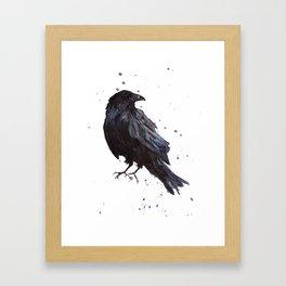 Constellation Raven Framed Art Print