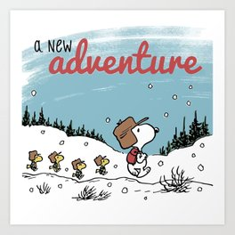 Snoopy a New Adventure Art Print