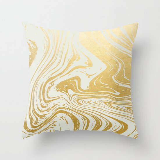 Gold Rush #society6 #decor #buyart Throw Pillow