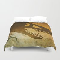 jeep Duvet Covers featuring Jurassic Minimalist by Ed Burczyk