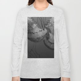 Jellyfish (Black and White) Long Sleeve T-shirt