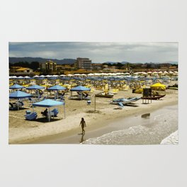 Versilia Italy Beach Ocean Coast View Vertical Rug