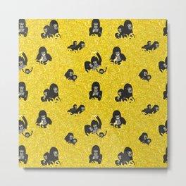 Gorillas and bananas by unPATO Metal Print
