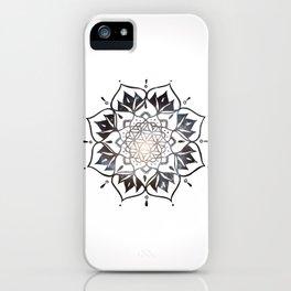 Namaste Nebula Mandala Design iPhone Case