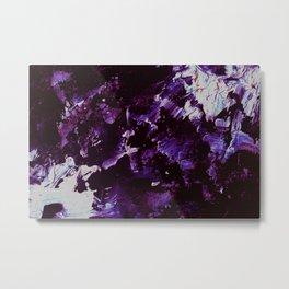 Splash In Purple Metal Print