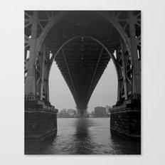 Williamsburg Bridge Underbelly Canvas Print