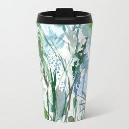 marelle: watercolor floral Metal Travel Mug