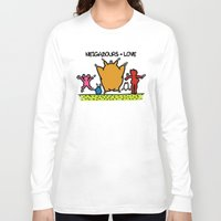 keith haring Long Sleeve T-shirts featuring Keith Haring & The neighbours by le.duc
