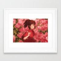 chihiro Framed Art Prints featuring Chihiro by punziella