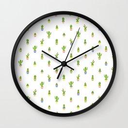 Cute Cacti Wall Clock
