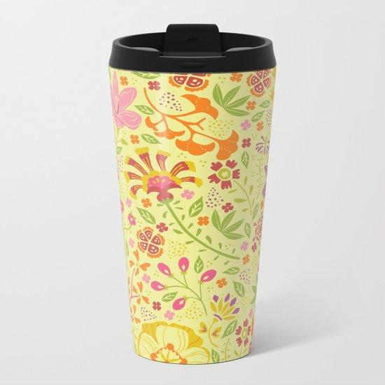 Oriental Blooms Metal Travel Mug