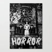 horror Canvas Prints featuring Horror by alexflasher