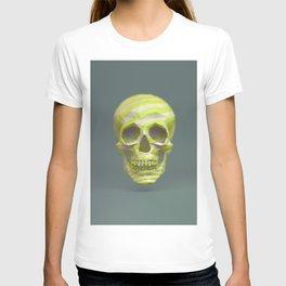 Yellow pop candy skull 3D render. T-shirt
