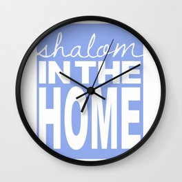 Shalom in the Home, lavender Wall Clock