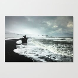 Black Sand beaches in Iceland Canvas Print