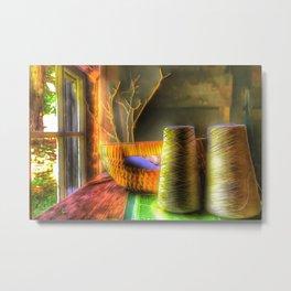 The Sewing Basket Metal Print