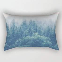 The Journey Is My Home - Misty Foggy forests Rectangular Pillow