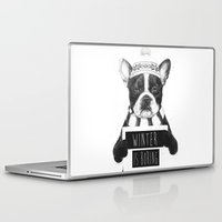 snowboarding Laptop & iPad Skins featuring Winter is boring by Balazs Solti