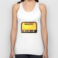radio Tank Tops featuring Old Radio by Mr and Mrs Quirynen