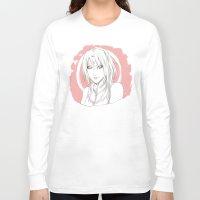 sakura Long Sleeve T-shirts featuring Sakura by ilaBarattolo