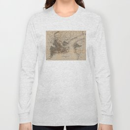 Vintage Map of Constantinople (1859) Long Sleeve T-shirt