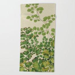 Maidenhair Ferns Beach Towel