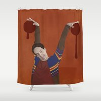 vampire Shower Curtains featuring Vampire by mycolour