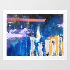 Musing Terrace Art Print